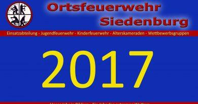 Jahreshauptversammlung der Ortsfeuerwehr Siedenburg
